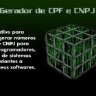 Gerador de CPF, CNPJ válidos para teste