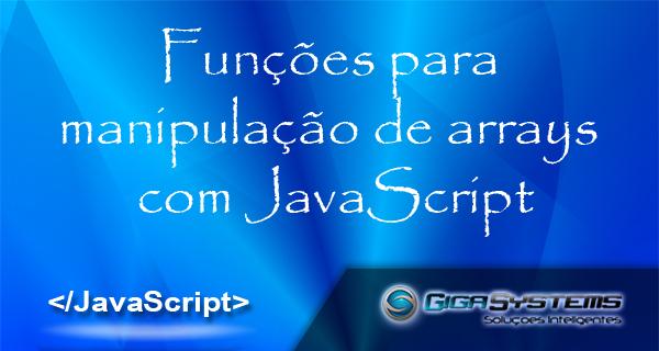 funções para manipulação de arrays com js